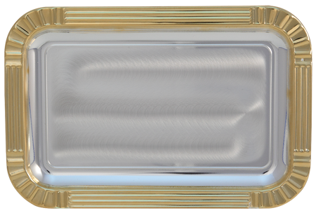 Gold Edged Rectangular Tray