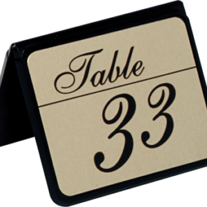 Double Sided Table Sign