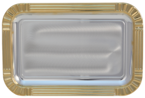 Gold Edged Rectangular Tray