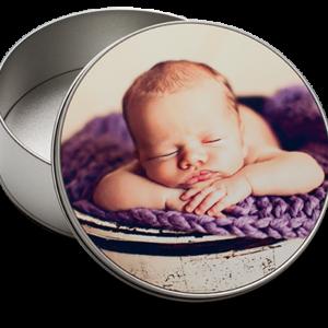 Round Gift Tin with Insert