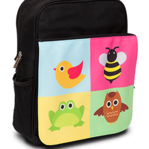 Child's Rucksack Black - Front