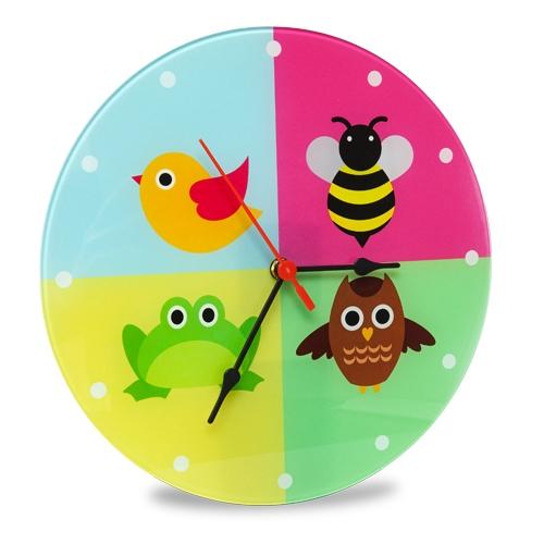 Round Glass Clock - 29cm
