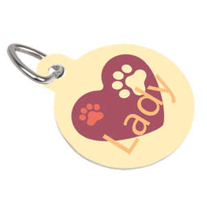 Unisub Pet Tag - Round