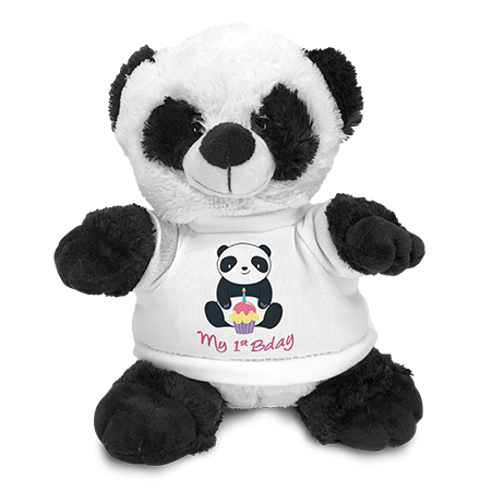 Panda Soft Toy with Shirt