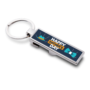 Rectangle Bottle Opener Keyring