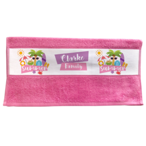Sublimation Hand Towel - Pink