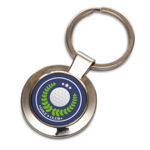 Round Keyring with Insert