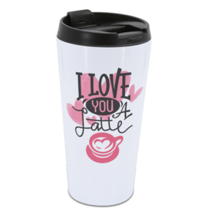 White Travel Tumbler 16oz