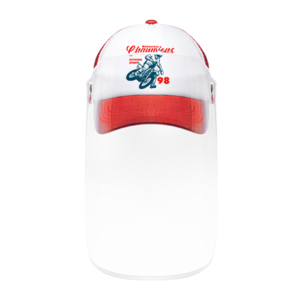 Red Cap with Visor