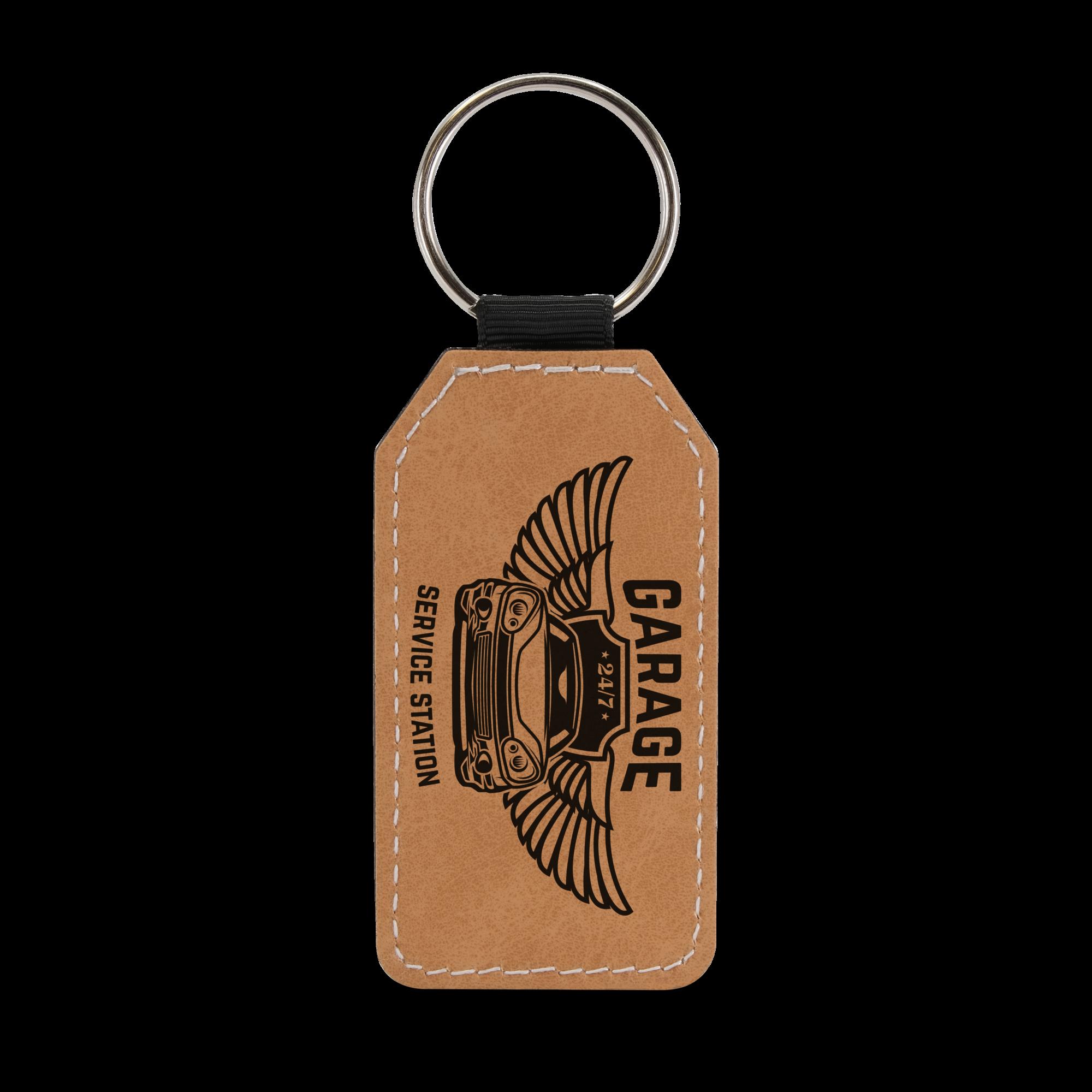 4201 - PU Leather Keyring Brown